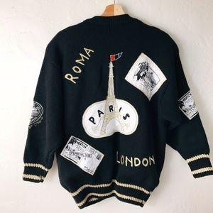 Sweaters - Incredible Vintage Paris London Oversized Sweater